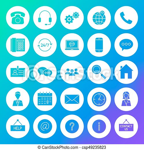 Contact Circle Solid Icons