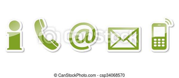 contact, ensemble, nous, icône - csp34068570