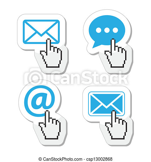 Contact - envelope, email icons - csp13002868
