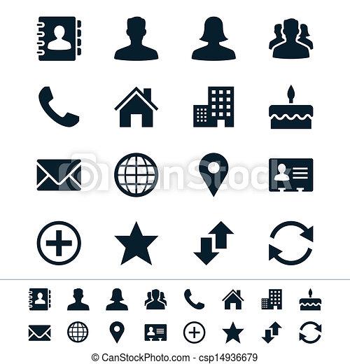 contact, icônes - csp14936679
