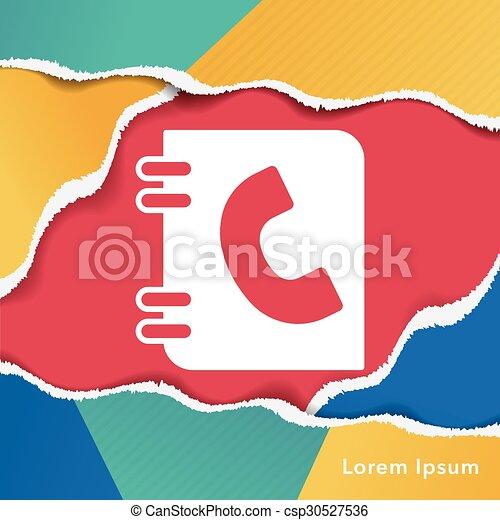 contact icon - csp30527536