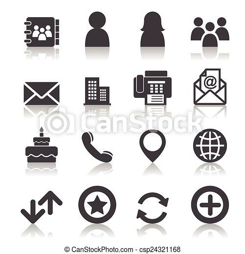Contact icons - csp24321168