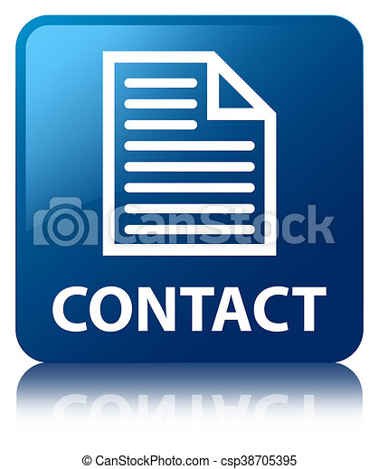 Contact (page icon) blue square button - csp38705395