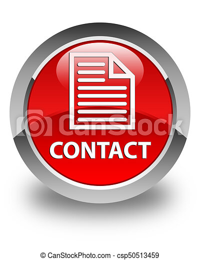 Contact (page icon) glossy red round button - csp50513459