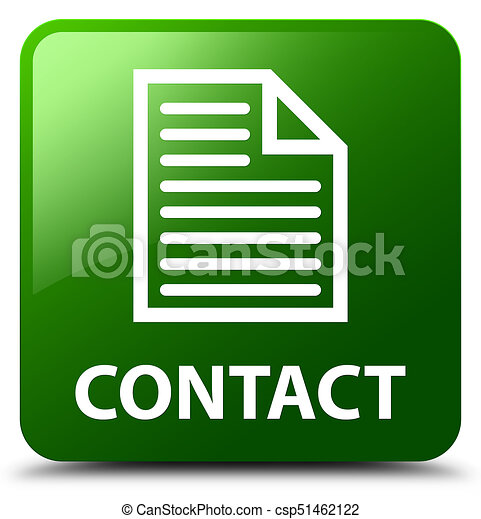 Contact (page icon) green square button - csp51462122