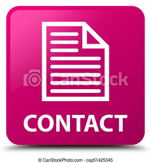 Contact (page icon) pink square button - csp51425345