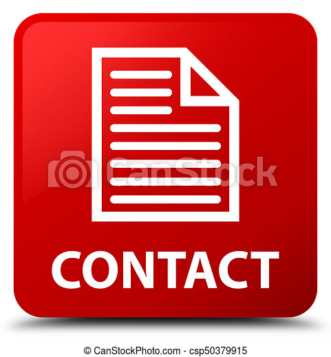 Contact (page icon) red square button - csp50379915
