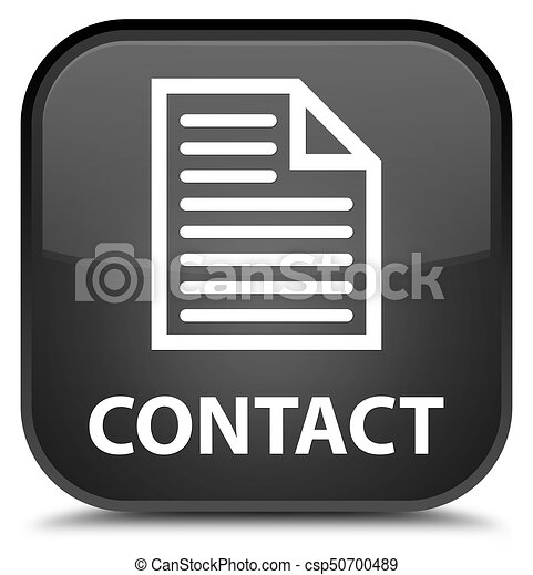 Contact (page icon) special black square button - csp50700489