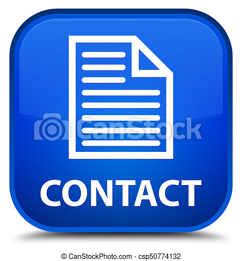 Contact (page icon) special blue square button - csp50774132