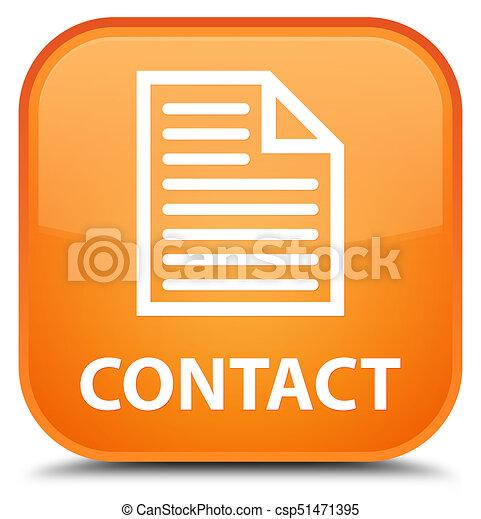 Contact (page icon) special orange square button - csp51471395