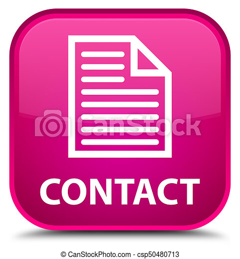 Contact (page icon) special pink square button - csp50480713