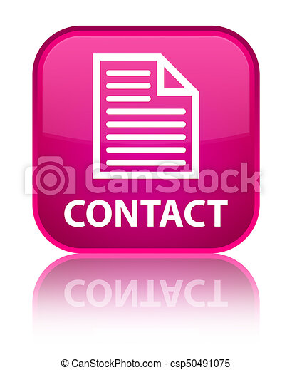 Contact (page icon) special pink square button - csp50491075
