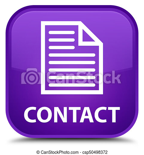 Contact (page icon) special purple square button - csp50498372