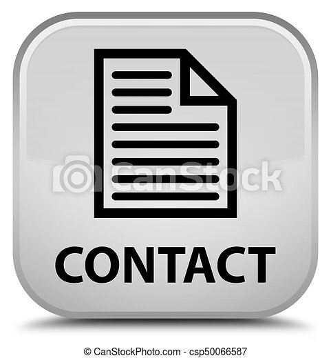 Contact (page icon) special white square button - csp50066587