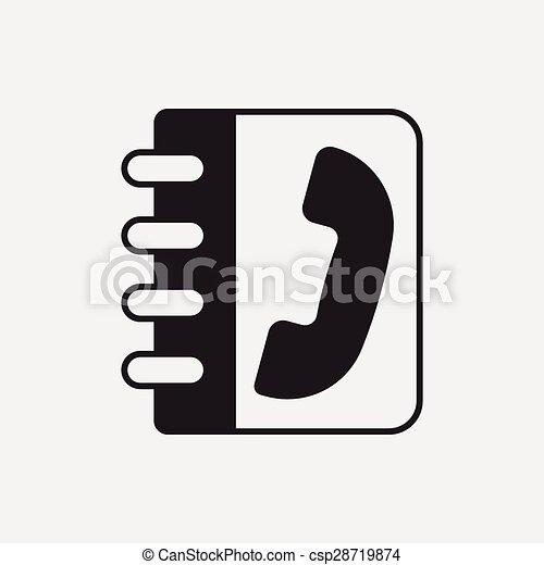 contact phone icon - csp28719874