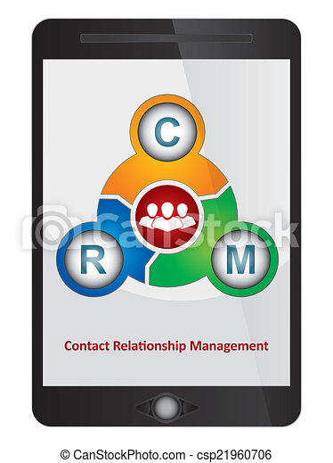 Contact relationship management software diagram on tablet screen contact relationship management software diagram csp21960706 ccuart Image collections