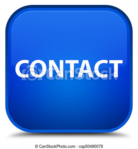 Contact special blue square button - csp50490076