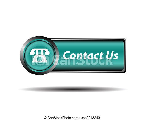 Contact us button blue reflected - csp22182431