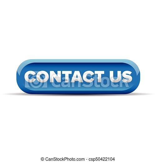 Contact us button blue vector - csp50422104