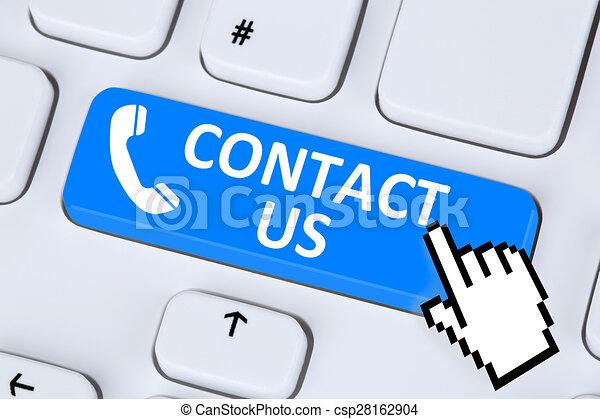 Contact Us Calling Service Customer Hotline Telephone Symbol On