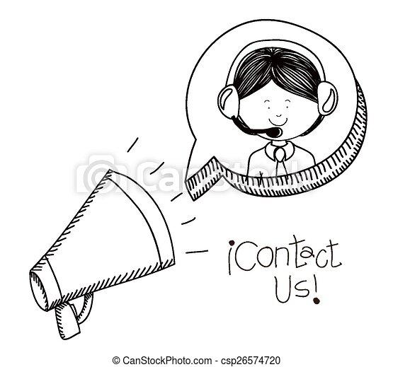 Contact us design  - csp26574720