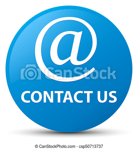 Contact us (email address icon) cyan blue round button - csp50713737