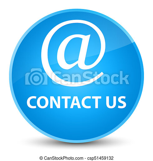 Contact us (email address icon) elegant cyan blue round button - csp51459132