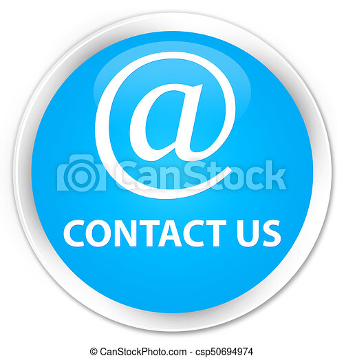 Contact us (email address icon) premium cyan blue round button - csp50694974