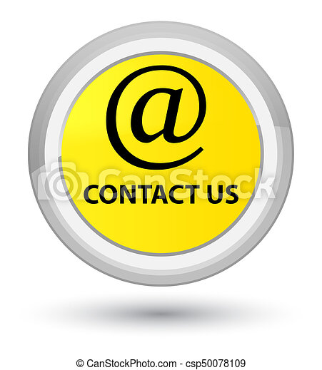 Contact us (email address icon) prime yellow round button - csp50078109