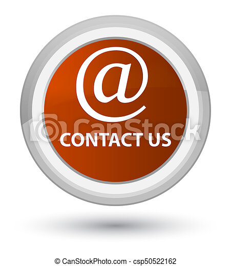 Contact us (email address icon) prime brown round button - csp50522162