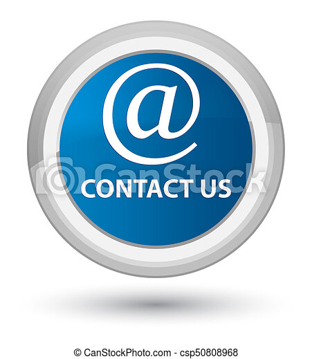 Contact us (email address icon) prime blue round button - csp50808968