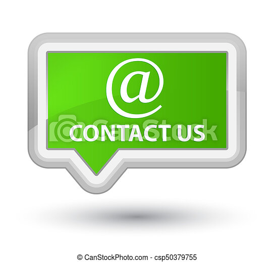 Contact us (email address icon) prime soft green banner button - csp50379755