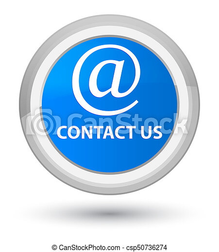 Contact us (email address icon) prime cyan blue round button - csp50736274