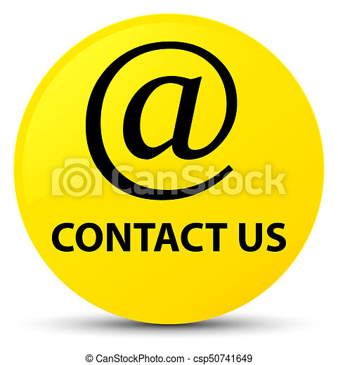 Contact us (email address icon) yellow round button - csp50741649