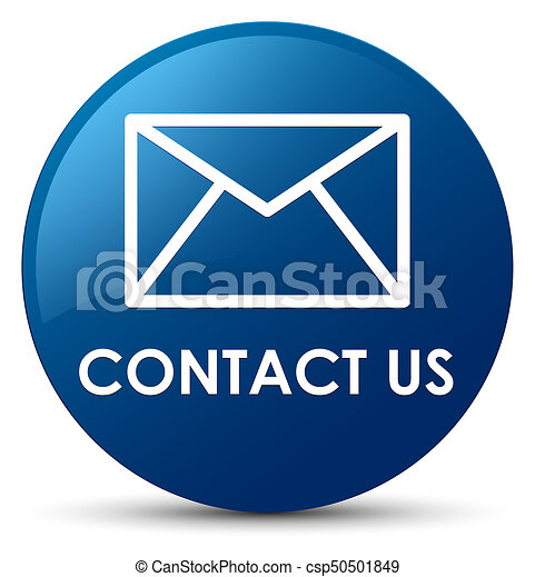 Contact us (email icon) blue round button - csp50501849