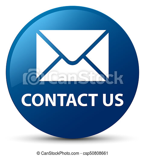 Contact us (email icon) blue round button - csp50808661