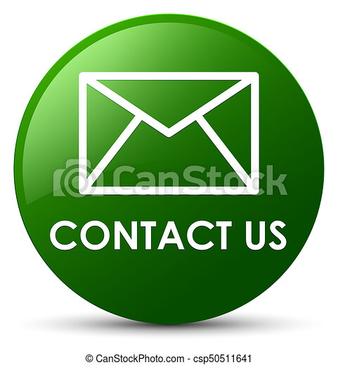 Contact us (email icon) green round button - csp50511641