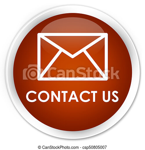 Contact us (email icon) premium brown round button - csp50805007