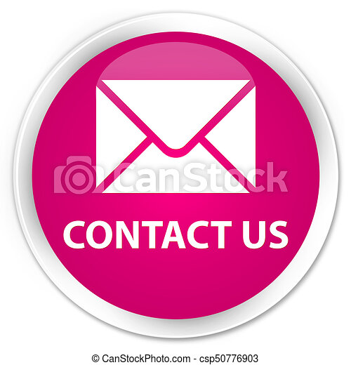 Contact us (email icon) premium pink round button - csp50776903