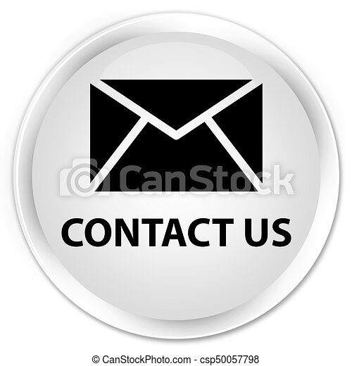 Contact us (email icon) premium white round button - csp50057798
