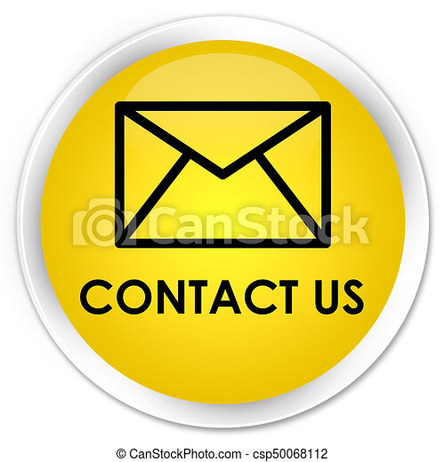 Contact us (email icon) premium yellow round button - csp50068112