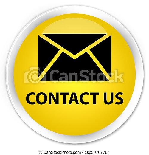 Contact us (email icon) premium yellow round button - csp50707764
