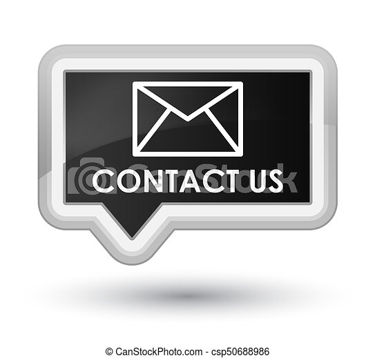 Contact us (email icon) prime black banner button - csp50688986