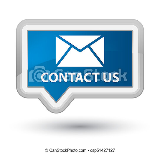 Contact us (email icon) prime blue banner button - csp51427127