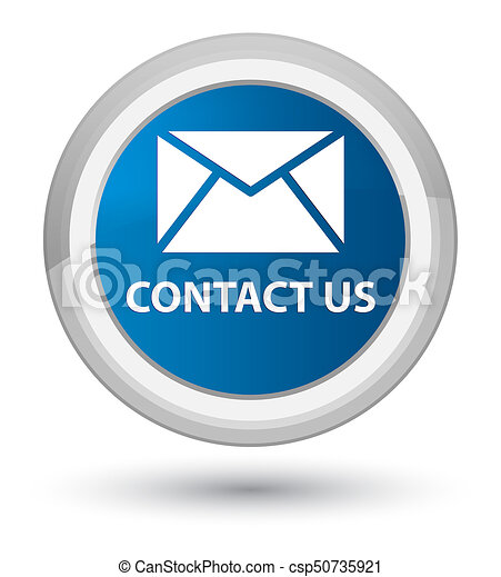 Contact us (email icon) prime blue round button - csp50735921