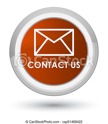 Contact us (email icon) prime brown round button - csp51469422