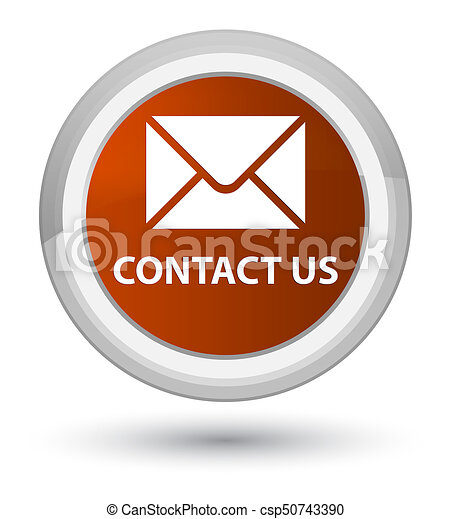 Contact us (email icon) prime brown round button - csp50743390