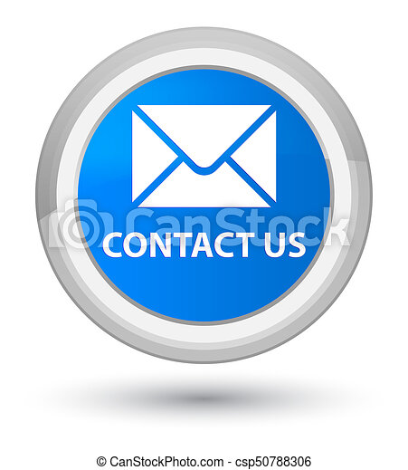 Contact us (email icon) prime cyan blue round button - csp50788306