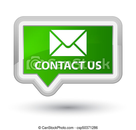 Contact us (email icon) prime green banner button - csp50371286