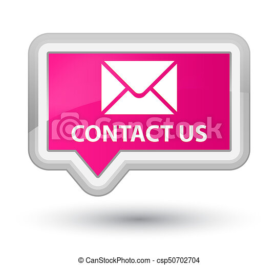Contact us (email icon) prime pink banner button - csp50702704